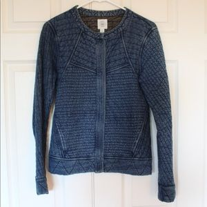 Lucky Brand Quilted, Denim-Like Jacket